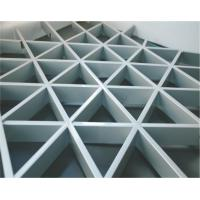 Decorative False Triangle Metal aluminum Grid Ceiling system ivory With A type Manufactures