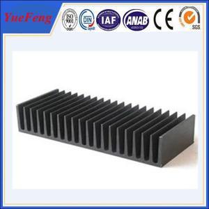 Hot! aluminium extrusion proiles black anodized heat sink, extruded aluminum heatsink Manufactures