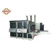 China Middle Speed Corrugated Cardboard Two Color Flexo Printing Machine with Die Cutter on sale