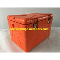 China Thermal Roto Molded 55 Liter PU Insulation Plastic Ice Cooler Box on sale