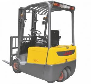 Smaller Turning Radius Electric Powered Forklift 1.8 Ton Three Wheel For Warehouse