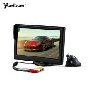 China Mini Infrared Car Reversing Aid System Desktop 5 Inch Screen 16/9 Car Monitor Camera on sale