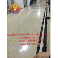 PVC UV Laminated Marble Surface Wall Panel/Decoration Panle/Bathroom Wall Panel Extrusion Line Manufactures