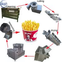 Snack Food Small Potato Chips Making Machine 304 SUS Material 500kg/H Capacity Manufactures