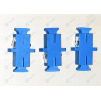 Telecom Type SC Fiber Optic Adapter Blue Color Simplex Insertion Loss < 0.2db Manufactures