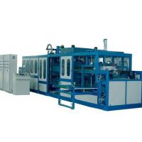 Hydraulic PLC Control Automatic Vacuum Forming Machine For Disposable Plastic Food Containers Manufactures