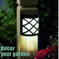 China 3000K Solar Fence Lights / Waterproof Solar Wall Lights For Deck / Patio / Stair on sale