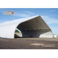 Outdoor Aluminum Curved Roof TFS Tent For Military And Hangar , Aluminum Structure Tent Manufactures