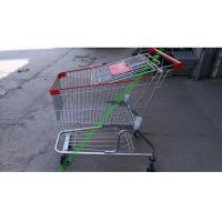 China 150 Litres Wire Shopping Trolley For Mall , American Style Steel Hand Push Cart on sale