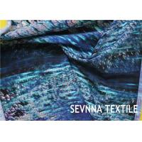 Semi Dull Lycra Spandex Fabric , Vanish Patterned Lycra Stretch Fabric Manufactures