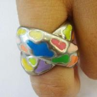 Alloy Ring with Enamel, Latest Unique Style, Small Orders Accepted Manufactures