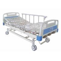 Folding Metal Hospital Manual Bed Three Cranks Fodable Hospital Bed Manufactures