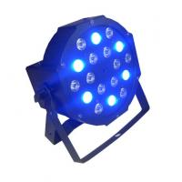 18 x 3w RGB Led Flat Par Light / Led Par 64 Indoor Stage Dj Lights 7CH DMX Manufactures