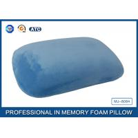 Blue Crystal Velvet Relaxation Memory Foam Sleep Pillow Or Nap Pillow Manufactures