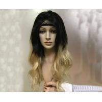 China Healthy 1B Blonde Real Human Hair Ombre Wigs Dark Root To Natural Black on sale