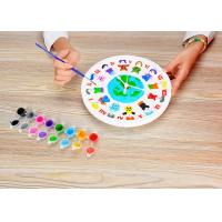 "DIY Painting Battery Powered 9 "" Wall Clock Art And Craft Kits For Children Manufactures"