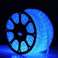 China 2 wire round blue led rope light smd for christmas decoration on sale