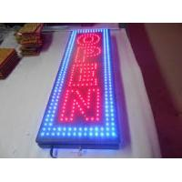 Red Green Blue LED Open Sign Flash Blinky Lights Neon Look In Vertical Format Manufactures