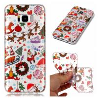 IMD Custom Print Nature Clear TPU Christmas Designs Phone Case For Samsung Galaxy S8 Manufactures