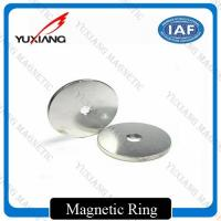 Ring N38H Neodymium Permanent Magnets With 2m Countersink Hole For Sensor Manufactures