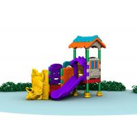 Little Kids Outside Playset / Kids Plastic Play Structure With Slide  TQ-QS004 Manufactures