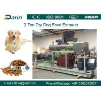 Double screw Automatic dry Pet Food Extruder production machine Manufactures