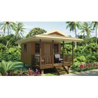 China China Bali Prefab Wooden Houses	Wooden Fast Assemble Light Steel Frame Beach Bungalows on sale