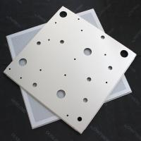 CNC Perforated Lay In Ceiling Tiles 600x600mm False Ceiling Panel RAL9010 Manufactures