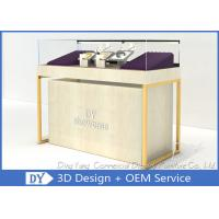 Quarter Vision Jewellery Shop Display Counter With LED Pole lights Manufactures