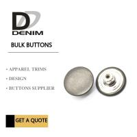Antique Silver Metal Bulk Buttons DENIM Skirt & Pant New Collection Trend Manufactures