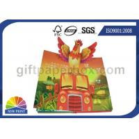 Custom Pop Up Book Printing Services / Children Reading Book Printing for 3D Book Manufactures