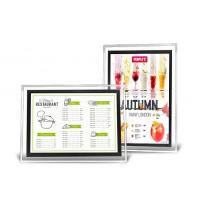 A3 Acrylic Advertising Light Box Display , Illuminated Menu Boards For Restaurants  Manufactures