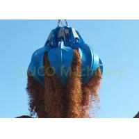 Two Ropes Orange Peel Grab , Electric Hydraulic Grab Bucket Blue Color Manufactures