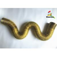 Smooth Gold Aluminum Foil Ducting , Lightweight Uninsulated Flexible Duct Manufactures