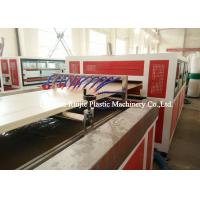 Plastic Pvc Door Manufacturing Machine Saw Blade Cutting With PLC Control System Manufactures