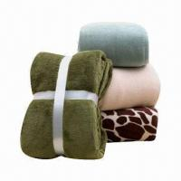 Micro Plush Throws/Fleece Blankets with 2cm Folded Hem, Weighs 240 to 350gsm Manufactures