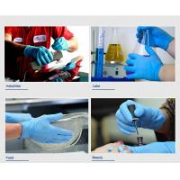 Non sterile medical disposable nitrile exam gloves latex and powder free Manufactures