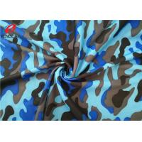 Disruptive Pattern Printed Polyester Spandex Fabric For Bags / Jacket / Shoes Manufactures
