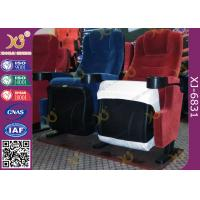 Fixed Seat Back Foldable Armrest Fire Retardance Fabric With PP Cup Holder Manufactures