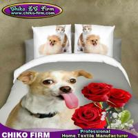 China Soft Pure Polyester Cute Animal Dog Queen Size 3D Bedding Sets on sale