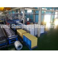 PU Sandwich Panel Production Line Electrical / Hydraulic Controlling Manufactures