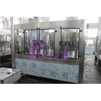 PLC Control 3 In 1 Water Filling Machine SUS304 With Screw Cap Manufactures