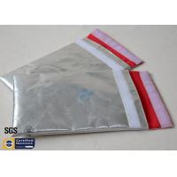 Fireproof Bag Document Cash Envelope 1022℉ Silver Non Itchy Fiberglass Cloth Manufactures