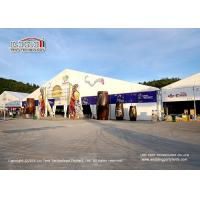 Aluminum Frame Outside Party Tents With Clear PVC Roof Cover / Big Commercial Tent Manufactures