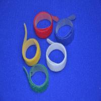 Quality Green Printed Self Gripping Releasable Cable Ties Strong Adhesive For Computer for sale