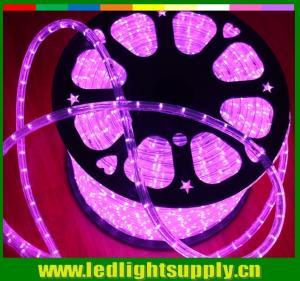 12/24V pink outdoor decoration light 2 wire led rope lights strip Manufactures