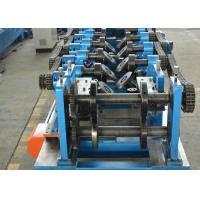 Quality CZ Shapes Interchangeable Purlin Roll Forming Machine 8-12 M / Min With PLC for sale