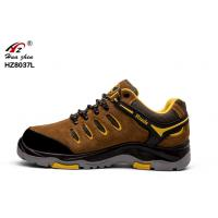 China Outsole Suede Soft Safety Shoes , BK Mesh Wide Fitting Mens Safety Shoes on sale