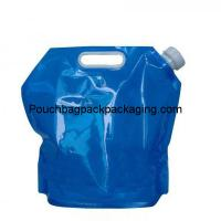 China 10 liter PE collapsible water container, stand up collapsible water bag plastic on sale