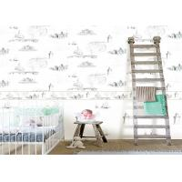 0.53*10m / Roll Kids Bedroom Wallpaper , House Pattern Children'S Room Wallpaper Manufactures